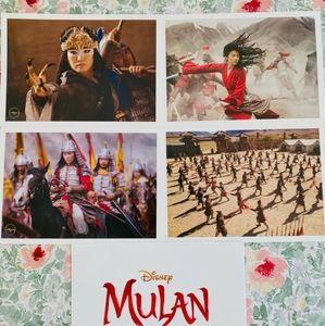 Disney Mulan Live Action Lithograph Set Brand New